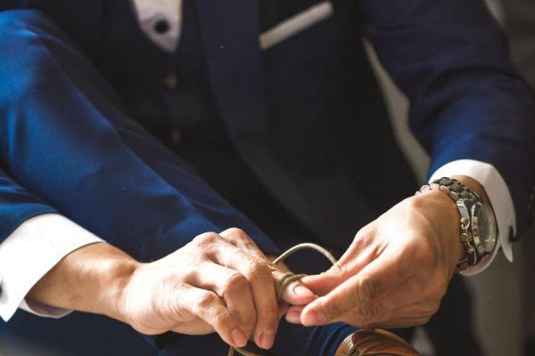 Pánsky oblek pre ženícha na svadbu 2